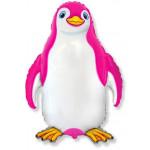 Воздушный шар (13''/33 см) Мини-фигура, Счастливый пингвин, Фуше, 1 шт.